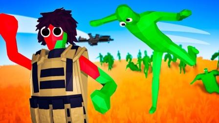 全面战争模拟器游戏 僵尸大军对战未来战士和鲨鱼人