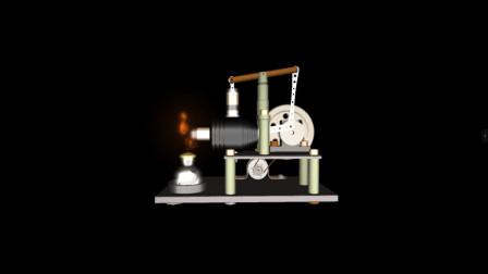 2种斯特林发动机3D动画,你更喜欢哪种?