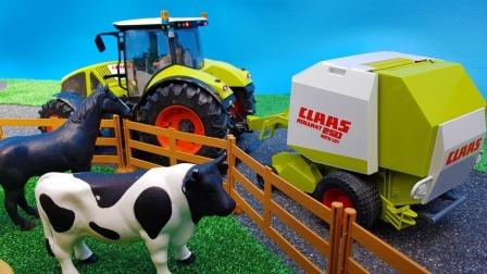 拖拉机在农场巡逻