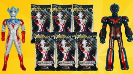 奥特曼荣耀版卡牌开箱,拆到LGR稀有卡!