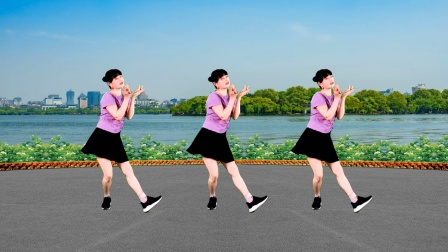 一支《桃花朵朵开》简单优美大众健身舞,背面示范