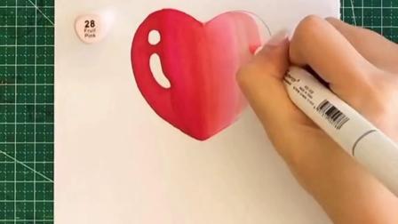 15秒就可以画出水珠,画个爱心送给你们