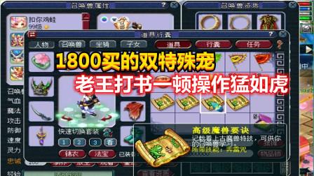 梦幻西游:1800买的双特殊宠,老王一顿操作猛如虎,结果变成这样