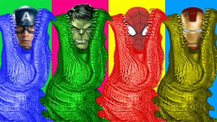 超级英雄益智早教游戏:蜘蛛侠和绿巨人怎么遇到小鳄鱼了?可是发生什么问题?