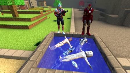 欧布和钢铁侠为什么把怪兽扔在水井里啊?