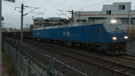 HXD16114成局成段货列通过超洋路18:47