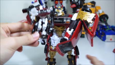 迷你特工队玩玩具:打机器人和小机器人