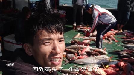 16个人出海钓鱼,鱼获铺满整个船板,收获满满的,太爽了