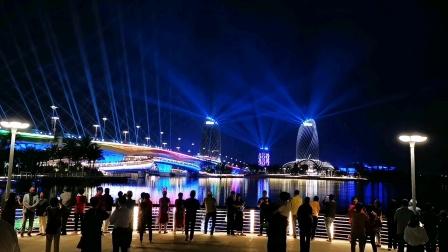 2021年元宵节,中国.海花岛上灯光秀