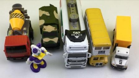 黛西分享洒水车大巴车模型工程车