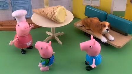 就剩一个了,乔治想让佩奇吃,你说猪奶奶会让佩奇吃吗?