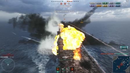 战舰世界:航母超长发挥,可惜母舰被击沉,剩下2架飞机一直坚持到最后
