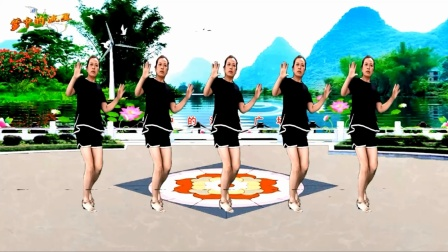 梦中的流星广场舞《江湖酒》32步网红弹跳舞