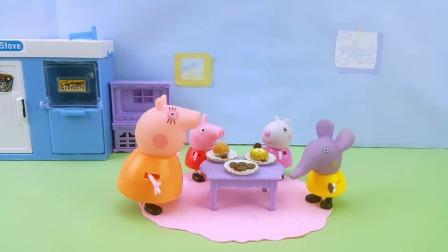 小猪佩奇做曲奇饼干,第一次失败了!