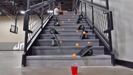 一个乒乓球引发的多米诺效应,强迫症一阵舒爽,网友:被惊艳到了!