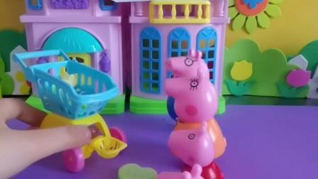 小猪佩琪一家买东西吃
