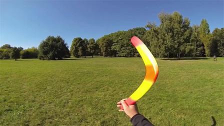神奇的科学现象,回旋镖为何能自己飞回来?原理到底是什么?