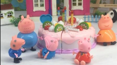 小猪一家都喜欢假乔治,乔治要乖,不敢调皮