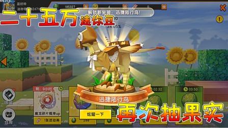 迷你世界:二十五万迷你豆抽果实,又花了四万能否出二级麒麟呢?