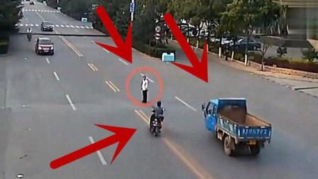 监控:人不看车,车不看人,两人携手去天堂的!