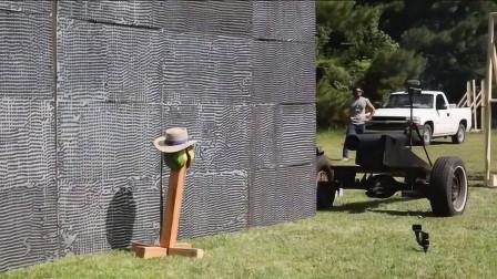 用5万块钕磁铁堆成墙,可以捕捉加农炮弹吗?老外用实验证明!