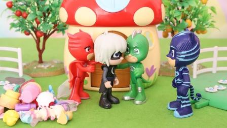 睡衣小英雄:月之女偷走小朋友玩具故事