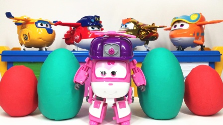 超级飞侠小爱变形机器人拆彩泥奇趣蛋 奥特曼玩具