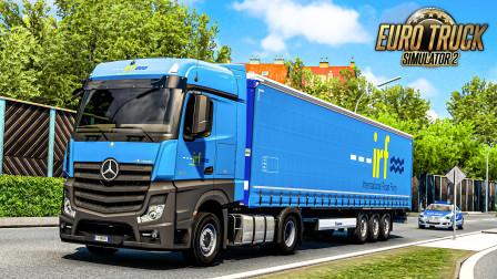 欧洲卡车模拟2 #403:自投罗网(误 沿6号高速继续开往纽伦堡   Euro Truck Simulator 2