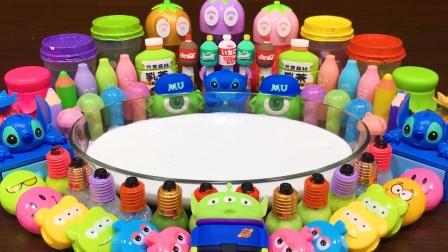 挑战化妆品玩具混泥,混合几十种材料材料成品超美