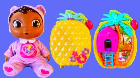 迷你波莉口袋梦幻菠萝提包宝盒