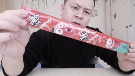 """开箱试吃""""海太软糖"""",就像一条长长的绳子,口味太奇特了!"""
