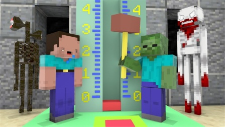 我的世界MC动画:怪物挑战赛,怪物们的生存挑战