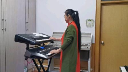 《故乡情》视频双电子琴演奏2021.3.1.