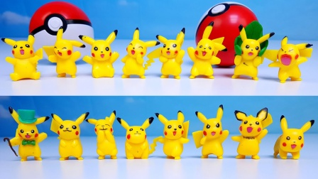 神奇宝贝皮卡丘玩具套装展示