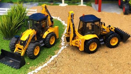 土壤压实机在工地工作