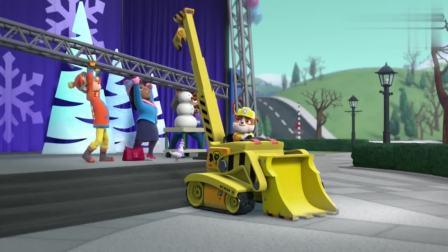 汪汪队:该灰灰上场了,要用自己的工具修好梯子
