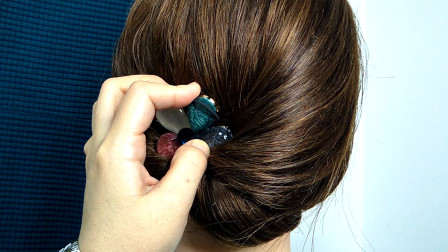 你想要的高级优雅发型这样扎,简单快速有气质,看1遍就学会