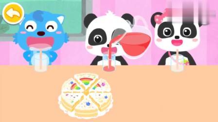 宝宝巴士 小朋友们一起吃蛋糕,喝饮料