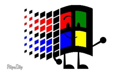 Microsoft Windows in BFDI Verisons
