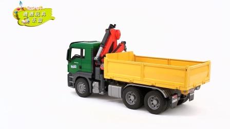 学习认识叉车挖掘机道路救援车 运输车翻斗车运土车等工程车