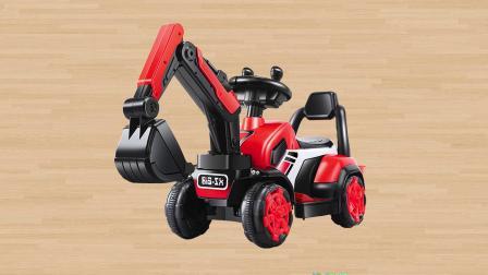 学习认识叉车挖掘机拖拉机 集装箱货车救护车运输车等工程车