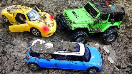 精品汽车玩具,在崎岖道路水泥路行驶的汽车,儿童动力汽车玩具!