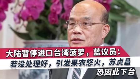 大陆突袭式动作抛下震撼弹,国民党议员:苏贞昌可能因此下马