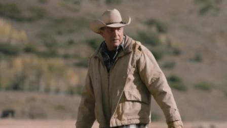 黄石:这就是狂野的美国西部,农场主亲自为母牛接生,太原始了