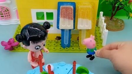 哪吒想和乔治一起过生日,却看到乔治和别人玩,就把蛋糕弄坏了