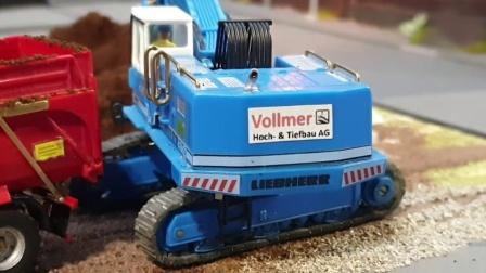 迷你仿真工程车玩具模拟运输