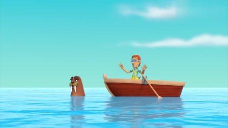 汪汪队立大功:阿宝船长发现海豚,不断夸她可爱,很喜欢她