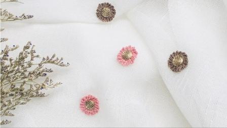 225-手工diy微钩耳环饰品系列——《素色雏菊》新手编织材料包教程