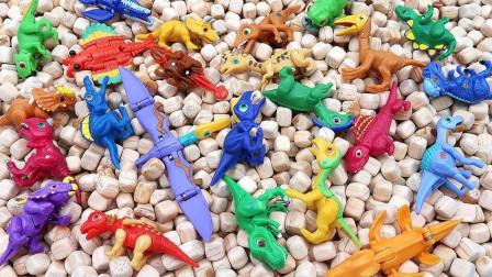 恐龙蛋孵化出小恐龙玩具