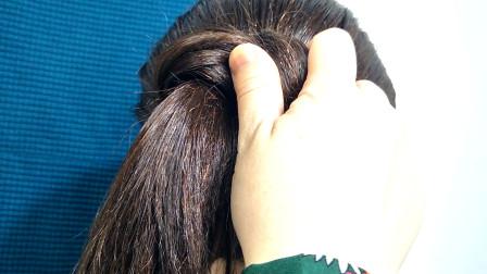 """发簪款""""丸子头""""这样扎显多还洋气,女生定要学会的一款发型"""